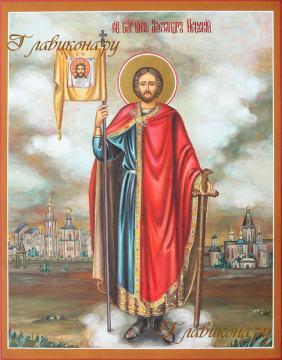 Святой Александр Невский икона артикул 591