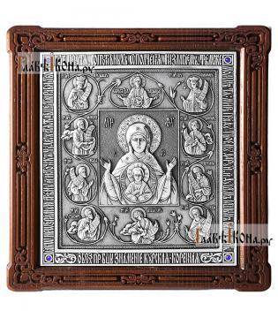 Курская Коренная Знамение - икона серебряная артикул 11221