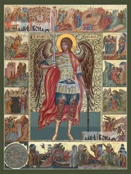 Михаил архангел (с клеймами) - артикул 90419