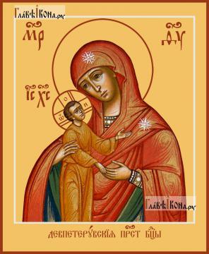 Девпетерувская Божия Матерь, печатная на дереве икона