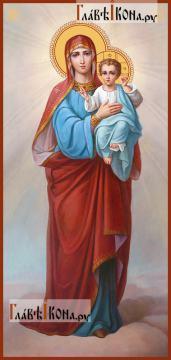 Божия Матерь с младенцем живописный стиль - артикул 90392