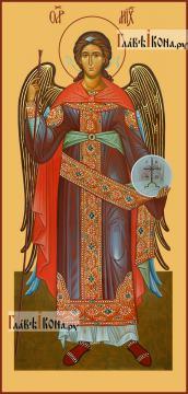 Михаил архангел, ростовой, печатная на дереве икона