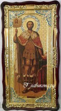 Александр Невский, икона 61х112 см