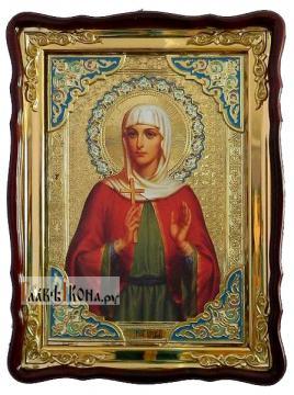 Мученица Алла, храмовая икона в фигурной рамке, 60х80 см
