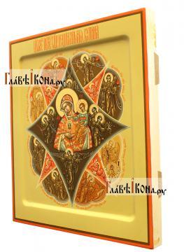 вид иконы Неопалимая Купина сбоку, артикул 282