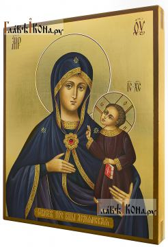 Богородица Армянская, рукописная икона артикул 5324 - вид сбоку