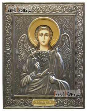 Ангел Хранитель, икна печатная в окладе с классическим рисунком