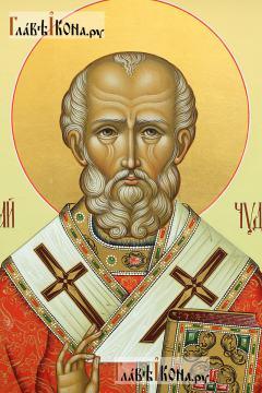 Икона святого Николая Чудотворца (палех), артикул 543 - лик святого