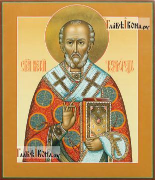Икона Николай Чудотворец, артикул 531 светлый фон