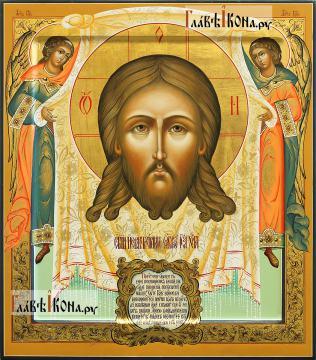 Спас Нерукотворный (с Ангелами), рукописная икона, артикул 636