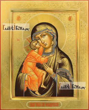 Икона Феодоровская с резьбой по левкасу, артикул 290