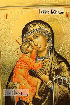 Икона Феодоровская с резьбой по левкасу, артикул 290 - детали Образа