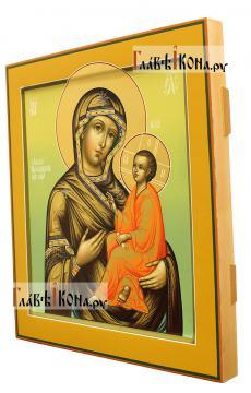 Икона Тихвинской Божией Матери, артикул 234 - вид сбоку