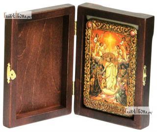Вознесение Господня, икона подарочная в футляре, 10х15 см - вид в комплекте