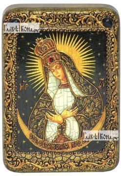 Остробрамская Божия Матерь, икона подарочная в футляре, 10х15 см