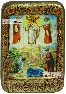 Преображение Господня, икона подарочная в футляре, 10х15 см