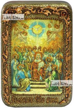 Сошествие Святого Духа, икона подарочная в футляре, 10х15 см