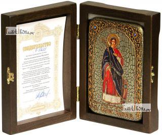 Екатерина великомученица (ростовая), икона подарочная в футляре, 10х15 см - вид в комплекте