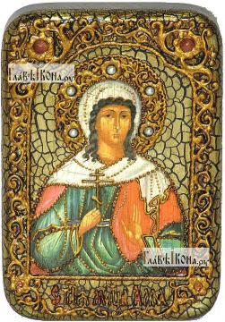 Алла мученица, икона подарочная в футляре, 10х15 см