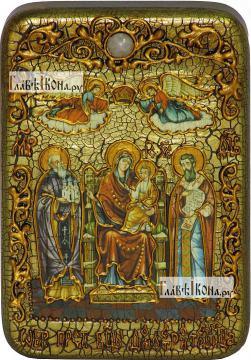 Домостроительница (Экономисса) Божия Матерь, икона подарочная в футляре, 10х15 см