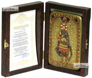 Мученик Иоанн Воин, икона подарочная в футляре, 10х15 см - вид в комплекте