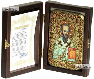 Родион (Иродион) апостол, епископ Патрасский, икона подарочная в футляре, 10х15 см - вид в комплекте