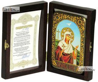 Иулия (Юлия) Карфагенская, икона подарочная в футляре, 10х15 см - вид в комплекте