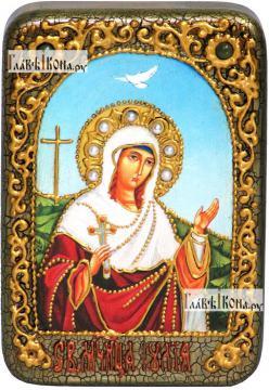 Иулия (Юлия) Карфагенская, икона подарочная в футляре, 10х15 см