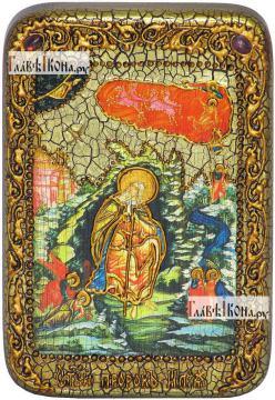 Илия Пророк, икона подарочная в футляре, 10х15 см