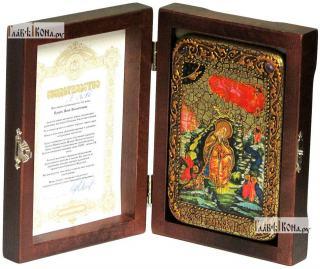 Илия Пророк, икона подарочная в футляре, 10х15 см - вид в комплекте