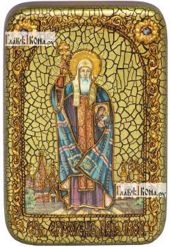 Ермоген, патриарх Московский и всея Руси, икона подарочная в футляре, 10х15 см