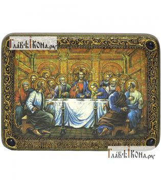 Тайная Вечеря, икона подарочная на дубовой доске, 15х20 см