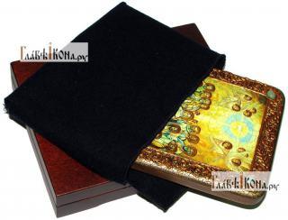 Сошествие Святого Духа, икона подарочная на дубовой доске, 15х20 см - вид в комплекте