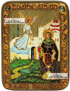 Ирина Каппадокийская (Хрисоволанта), икона подарочная на дубовой доске, 15х20 см