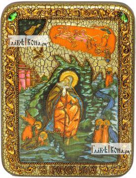 Илия Пророк, икона подарочная на дубовой доске, 15х20 см