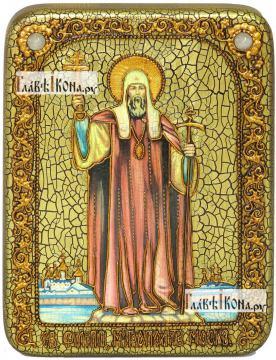 Филипп, митрополит Московский, святитель, икона подарочная на дубовой доске, 15х20 см