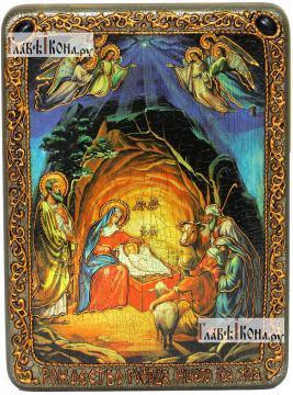 Рождество Христово, аналойная икона подарочная