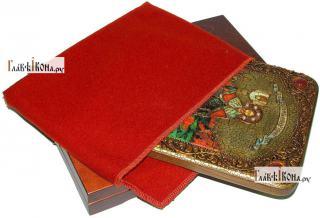 Александр Невский, благоверный князь (ростовой), аналойная икона подарочная - вид с упаковкой