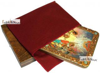 Крещение Господне, аналойная икона подарочная - вид с упаковкой