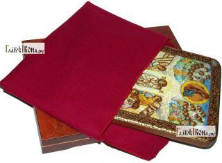 Успение Пресвятой Богородицы, аналойная икона подарочная - вид с упаковкой