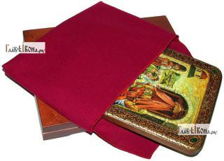 Рожество Пресвятой Богородицы, аналойная икона подарочная - вид с упаковкой