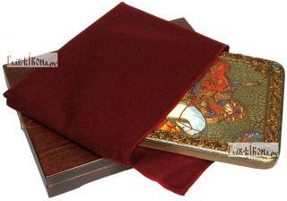 Георгий Победоносец (Чудо о змии), аналойная икона подарочная - вид с упаковкой