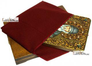 Паисий Святогорец, преподобный, аналойная икона подарочная - вид с упаковкой
