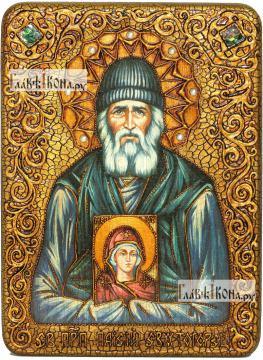 Паисий Святогорец, преподобный, аналойная икона подарочная
