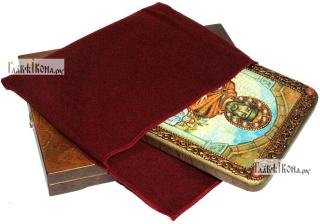 Ярослав Мудрый, князь, аналойная икона подарочная - вид с упаковкой