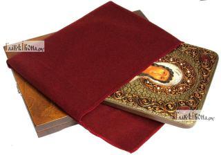 Алла Готфская, мученица, аналойная икона подарочная - вид с упаковкой