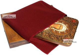 Валентина Кесарийская мученица, аналойная икона подарочная - вид с упаковкой