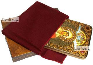 Анастасия Узорешительница, аналойная икона подарочная - вид с упаковкой