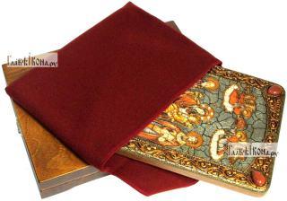 Домостроительница (Экономисса) Божия Матерь, аналойная икона подарочная - вид с упаковкой