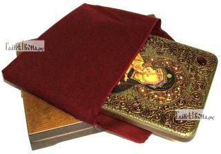 Феодоровская Божия Матерь, аналойная икона подарочная - вид с упаковкой